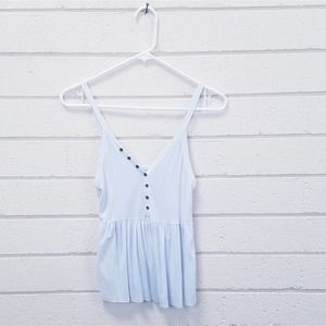 American Eagle Outfitters Blue Peplum Tank XXS